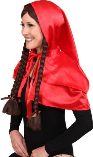 Faschingskostuem Damen Rotkäppchen-Cape unisize (Und Rotkäppchen Wolf Der Kostüme)