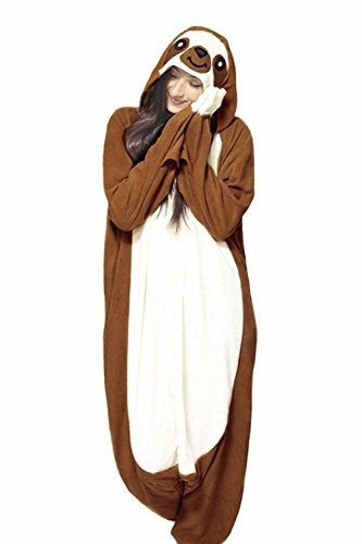 Unisex Paar Warme Erwachsene Tier Schlafanzug Pyjamas Onesies Kostüm Cosplay (M Größe (Kostüm Faultier)