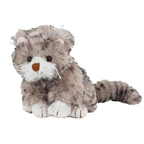 e Maciek 18 cm, Plueschtier, Plueschkatze, grau mit brauner Nase (Nase Katze)