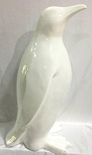 REVIMPORT 19/3347 Pingouin Blanc 47 cm, Résine, 18 x 23 x 47 cm