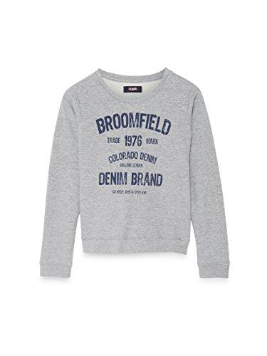 COLORADO DENIM Mädchen Sweatshirt Divani, Grau (Grey Melange 9051), 140 (Herstellergröße: 134/140) (Sweatshirt Colorado Grau)