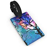 Watercolor Two Fantasy Trees Travel Luggage Tag Suitcase ID Lablels Accessories Leather Wristband