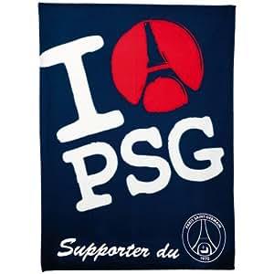 Plaid Couverture lit - Collection officielle PSG - Football - PARIS SAINT GERMAIN - Taille 120 x 160 cm