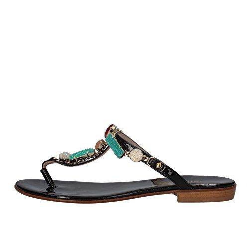 CESARE PACIOTTI sandali donna bianco / nero vernice (39 EU, Nero)