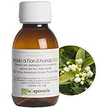 LA SAPONARIA - Hidrosol de Azahar Orgánico - Tonificante, refrescante y calmante - Para pieles