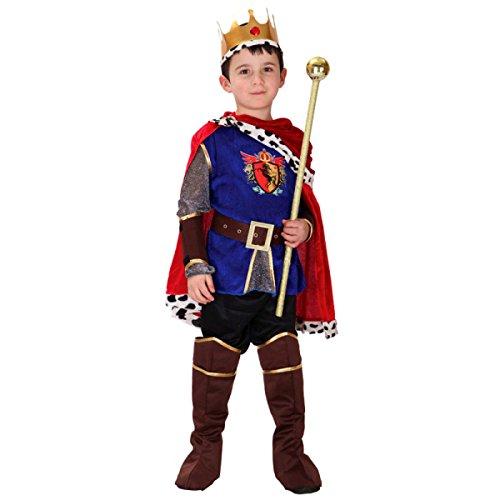 Nihiug Halloween Kinder Performance Kostüm Arab Prinz König Kostüm Wimperntusche Prinz Charming Anzug Göttin Kostüm Mode Schlafzimmer,LightBlueLuxuryKingFitted-L (Prince Charming Kind Kostüme)