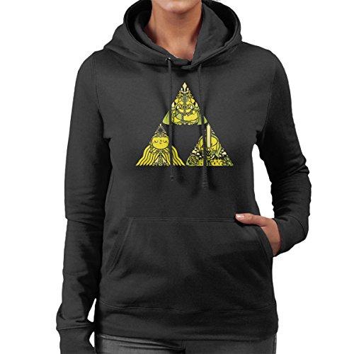 Legend Of Zelda Triforce Women's Hooded Sweatshirt Black