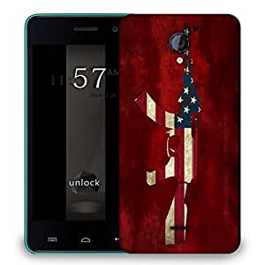 Snoogg Us Ak47 Designer Protective Back Case Cover For MICROMAX UNITE 2