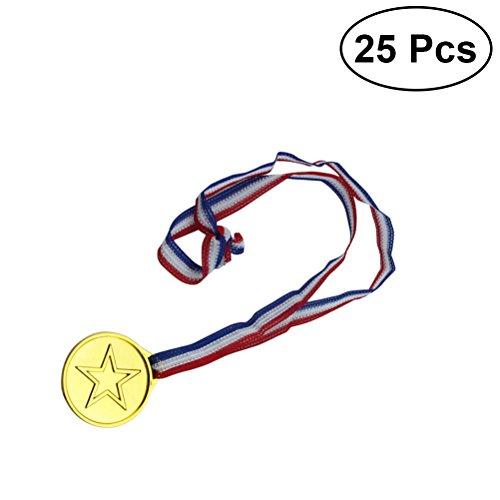 toymytoy Lederpolster Golden Winner Award Medaillen für sportlichen wettkämpfen passend Partyzubehör (Awards Party Thema)