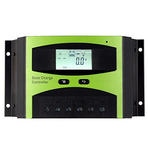 KKmoon 30A 12V/24V Solar Laderegler PWM Aufladung Temperatur Kompensation Überladung Schutz LCD Display für netzunabhängige Solaranlage