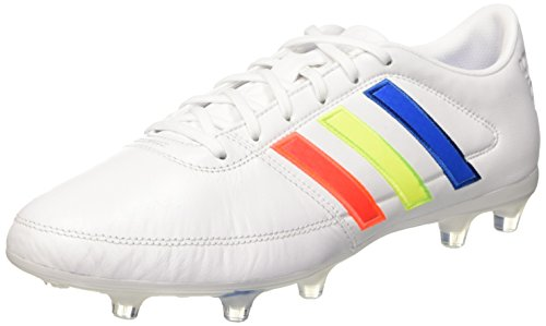 adidas Gloro 16.1 Fg, Scarpe da Calcio Uomo, Bianco (Ftwr White/Solar Yellow/Shock Blue), 42 EU