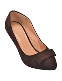Show Stopper Brown Coloured Suede Upper Slip On Sandal For Women