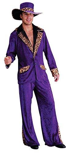 Pimp Xxl Kostüm - Foxxeo Pimp Daddy Zuhälter Kostüm lila Größe XXL