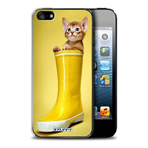 Stuff4 Hülle / Case für Apple iPhone 7 Plus / Glass Wein Muster / Süße Kätzchen Kollektion Gummistiefel