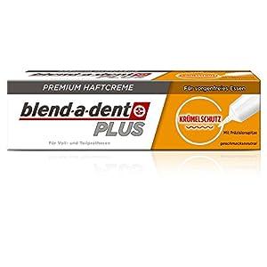 Blend-a-dent PLUS KRÜMELSCHUTZ Premium Haftcreme, 3er Pack (3 x 40 g)