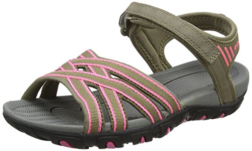 Gola Damen Safed Hallenschuhe, Beige (Taupe/Hot Pink), 41 EU (Sandalen Thong Pink)