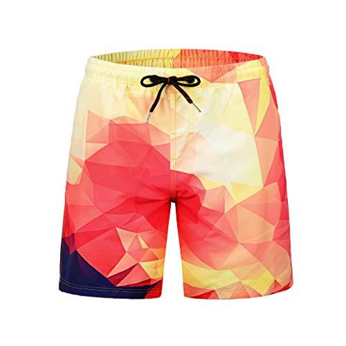 90242baa7faa ODJOY-FAN Uomini Stampa Tempo Libero Pantaloncini Pantaloncini da Spiaggia  Uomo Costume Bagno Bermuda Strisce