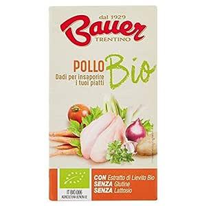 Bauer Dado per Brodo di Pollo Bio - 60 Gr