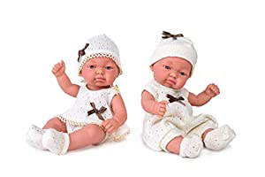 Muñeca recién nacido con traje, 25 cm Muñecas Rauber, Multicolor (2564)