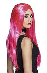 Boland 85998Peluca Bruja Neon Color Rosa
