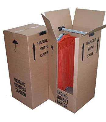 2 x Large Wardrobe/Garment Removal Box -24HR DEL
