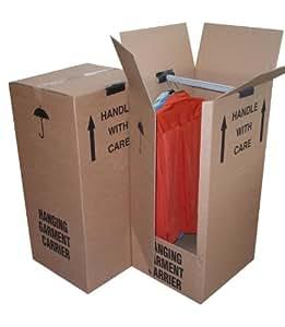 Globe Packaging Lot de 2 grands cartons penderie pour déménagement