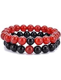 3162a689ebe7e HooAMI Bracelet Prière Bouddhiste Chapelet Bracelet Couple Charme Bijoux  Pour Femme Homme Meilleur Cadeau pour Amour