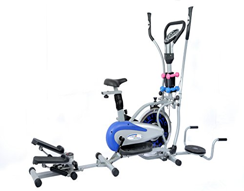 Cardioworld - Cardioworld 8 IN 1 Orbitrek Steel With (Dumbell, Twister, Stepper)