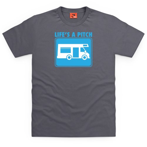 Life's A Pitch T-Shirt, Herren Anthrazit