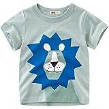 Oyoden T-Shirt Enfants Bébé à Manches Courtes Garçon Tee Shirt Chemise Dinosaure Été Top Coton Cartoon Vêtements 1-8 Ans