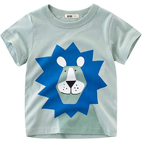 ab80a374e3 Oyoden Camisetas Manga Corta Niños Dibujos Animados Tops Bebé Verano Algodón  Blusa 1-8 Años