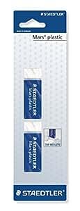 Staedtler Mars Plastic Eraser - White, Pack of 2