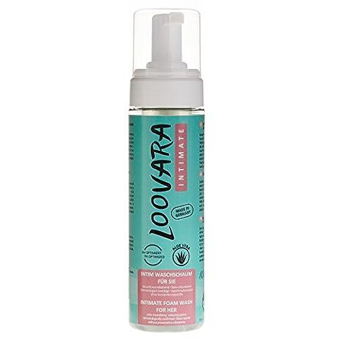 Loovara Intimate Mousse de lavage intime pour elle, 200 ml, à base d'ALOE VERA, 100% sans parfum