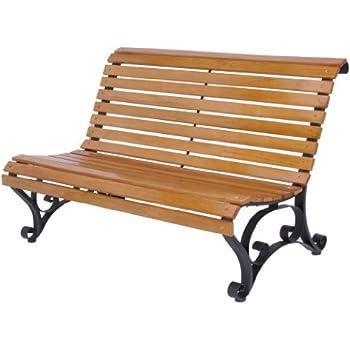 gartenbank holz metall x250 vorne abgerundet 122x87 cm holzbank sitzbank gartenm bel. Black Bedroom Furniture Sets. Home Design Ideas