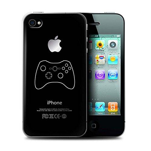 Coque de Stuff4 / Coque pour Apple iPhone 4/4S / Xbox 360 Noir Design / Manette Jeux Vidéo Collection Xbox 360 Noir