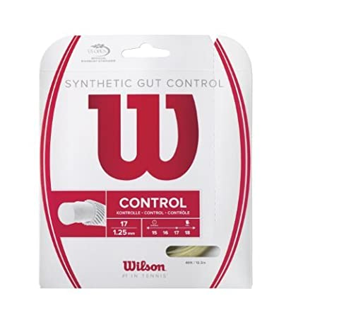 Wilson Synthetic Gut Control 40-Feet Tennis String Set, Natural, 16 by Wilson