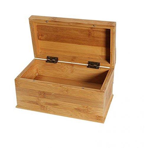 Doppelter Boden (Box aus Bambus , mit Geheimfach - 222x125x100mm)