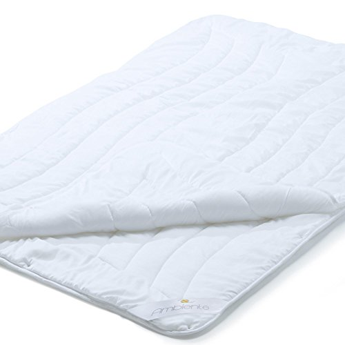 aqua-textil 4-Jahreszeiten Bettdecke 135x200 Ganzjahresdecke Steppbett Zudecke Vierjahreszeiten Ganzjahresbett Bettenset Ambiente Schlafdecke 1000753 (Aqua-duvet-set)