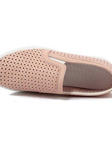 ZQ gyht Scarpe Donna-Mocassini-Tempo libero / Ufficio e lavoro / Casual-Comoda / Punta arrotondata-Piatto-Finta pelle-Nero / Rosa / Bianco , pink-us10.5 / eu42 / uk8.5 / cn43 , pink-us10.5 / eu42 / uk pink-us5.5 / eu36 / uk3.5 / cn35