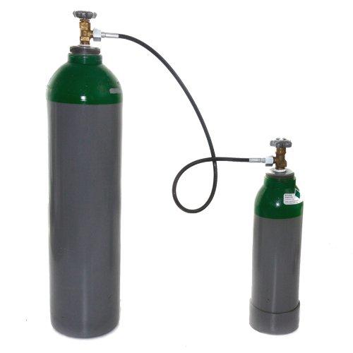 Umfüllschlauch 1 Meter für Argon, CO2, Schutzgas, Helium, wie Umfüllbogen