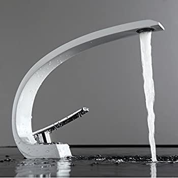 Fapully Wasserhahn Bad Weiß Chrom Mischbatterie Waschbecken ...