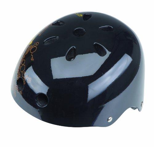 Prophete Kinder Skater-Helm mit Dekor, schwarz/ braun, 55-62 cm, 941
