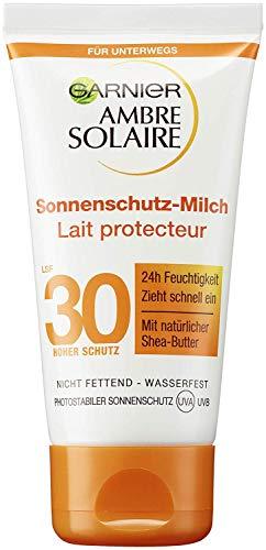 Garnier Ambre Solaire Sonnencreme Sonnenschutz Milch LSF 30, 1er Pack (1 x 50 ml)