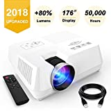 ❤Type:VISOUD 2018 Updated Ultra Bright Home Theatre Video Projector. Made specifically to cater to the demands of the market, this HD video projector features 2200 Lumen image brightness, making it brighter than any other comparable projectors(mini p...
