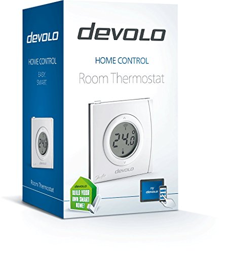 Devolo Home Control Room Thermostat (Home Automation via iOS/Android App, Smart Home Device, Smart Heating Controls, Programmable Room Thermostat, Z Wave) - White