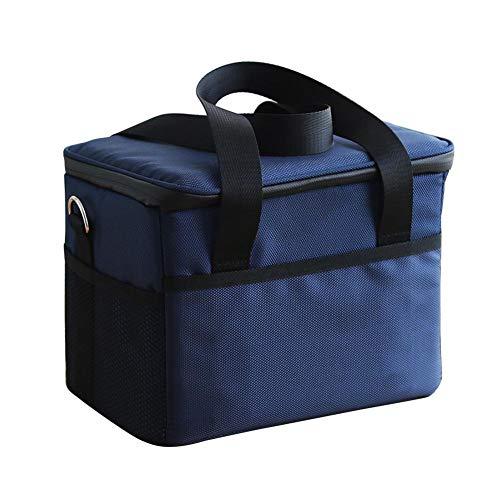 Roful Isoliertasche, quadratisch Geformte Oxford-Stofftasche 10L/28L Picknicktasche Wasserdichte Isoliertasche Kühltasche Isolierte Dose Warm Falttasche, 10 l