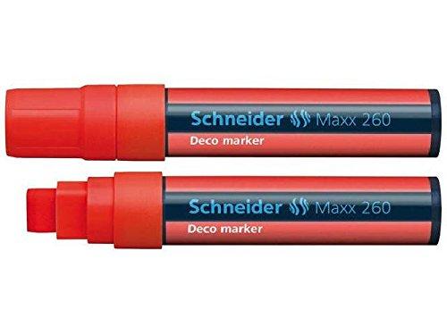 Deco-marker (Windowmarker Deco-Marker Maxx 260, 5+15 mm, rot Schreibfarbe rot Strichstärke 5+15 mm)