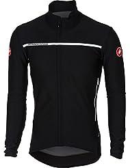 Castelli–Perfetto Long Sleeve–Camiseta de ciclismo para hombre, color negro, tamaño medium