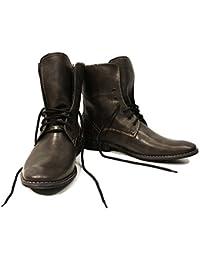 Modello Giustino - 43 EU - Cuero Italiano Hecho A Mano Hombre Piel Gris Zapatos Vestir Oxfords - Cuero Cuero Repujado - Encaje