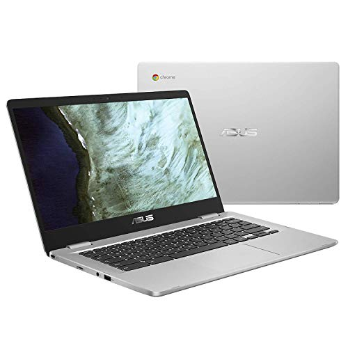 Asus Chromebook C423NA-BV0164 PC Portable 14' HD gris (Intel Celeron, RAM 8Go, EMMC 64Go, Chrome OS) Clavier AZERTY...